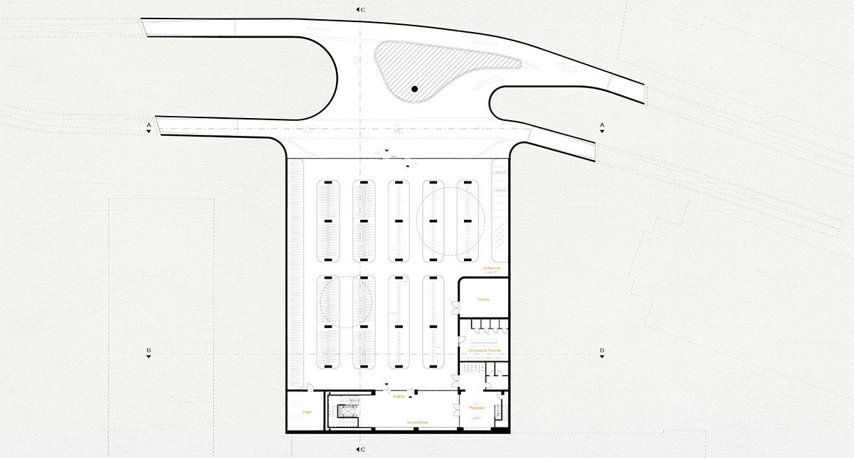Fahrradparkhaus Aachen Level -1